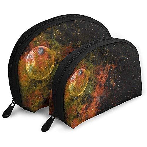 Explosion Sky Galaxy Texture Bolsas portátiles Bolsa de Maquillaje Bolsa de Aseo, Bolsas de Viaje portátiles multifunción Bolsa de Embrague de Maquillaje pequeña con Cremallera