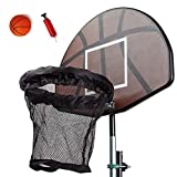 Nurth Trampoline Basketball Set/Universal Basketball Hoop/with Pump and Rubber Ball,Trampoline Basketball Hoop with Ball and Attachment for Straight Net Poles