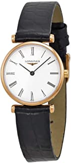 Longines La Grande Classique White Dial Black Leather Ladies Watch L42091912