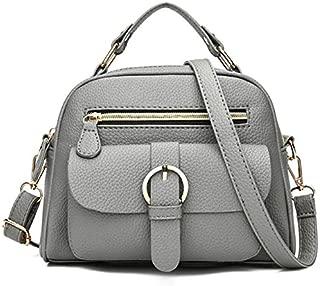 TOOGOO New Leather Pu Handbag Women Handbags Litchi Fashion Ladies Shoulder Bags Hand Bag Woman Messenger Bag(Black)