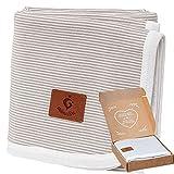 Manta para bebé mimaDu, 100% algodón OEKO-TEX, manta de cuna – suave y...