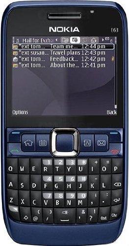 Nokia E63 ultramarine blue (Tastiera QWERTZ, Ovi, Radio stereo FM, UMTS, GPRS, Nokia Maps, 2 MP) Smartphone (Importato da Germania)