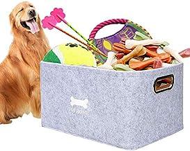 Dog Toys Storage Bins, Foldable Pet Storage Basket Felt Storage Box Children Toy Storage Organizer, Home Office Storage Co...