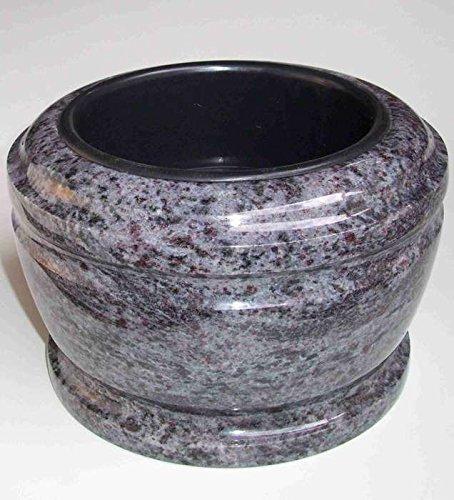 designgrab Bol funéraire exclusif - Diamètre : 25 cm - En granit Orion Blue/Vizac Blue
