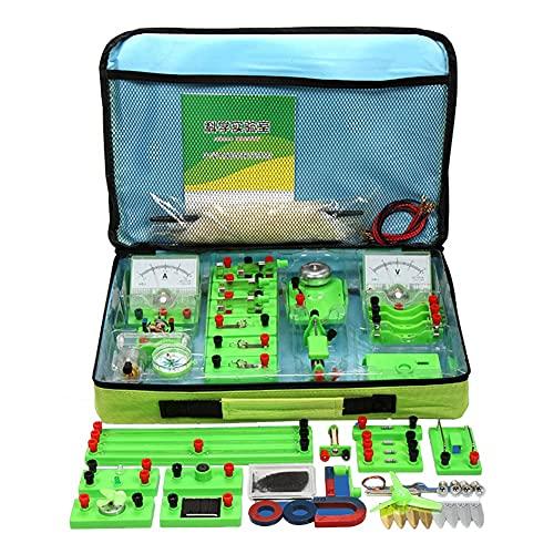 FHISD School Science Labs Kit básico de Aprendizaje de Circuito eléctrico físico básico, Kits educativos de Experimento de magnetismo de Electricidad básica para Estudiantes de Secundaria