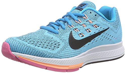 Nike Nike Damen Air Zoom Structure 18 Laufschuhe, Türkis (Blue Lagoon/Black/Pink Pow/Sunset Glow), 38