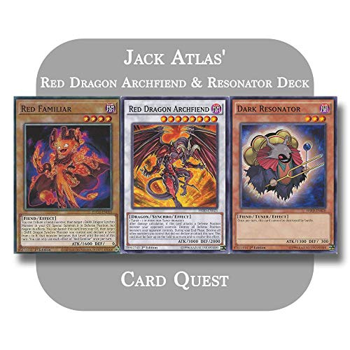 Yu-Gi-Oh! 5D's - Jack Atlas' Complete Red Dragon Archfiend & Resonator Synchro Deck