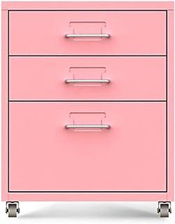 Armoires Classeur Mobile avec Petit classeur de données de Meuble de Rangement de tiroir avec 3 tiroirs avec des Roues (Co...