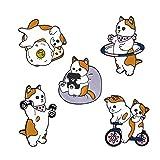 melime Funny esmalte broche Pin Set Cute Cartoon broches alfileres de solapa insignia para niños los niños Jean bolsa ropa decoración