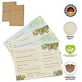 mrb-solutions® Tischkarten für die Hochzeit. 25 Gästebuchseiten, Gästekarten, Fragekarten mit...