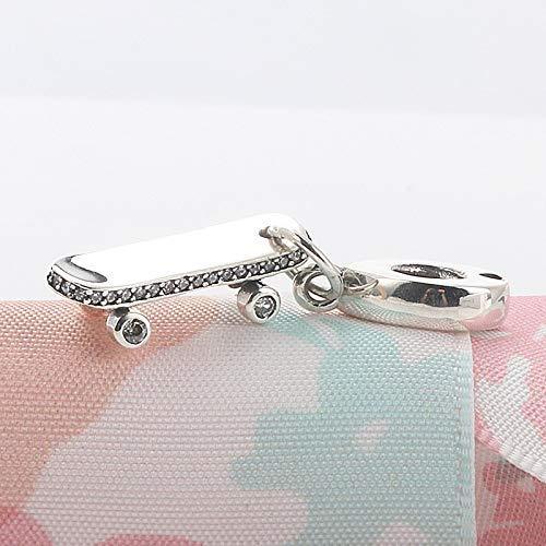 XIAODAN 100% 925 Silver Cassette Cute Cat Flower Angel Wings Spinning World Dangle Beads Fit Original Charms Bracelet Jewelry Y214