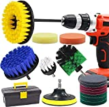Drill Brush and Scrub Pads, GOH DODD 18 Pieces Power Scrubber Variety Cleaning