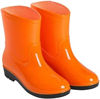 MEIGUIshop Rain Boots - Waterproof Non-Slip Water Shoes Rubber Shoes in The Tube rain Boots