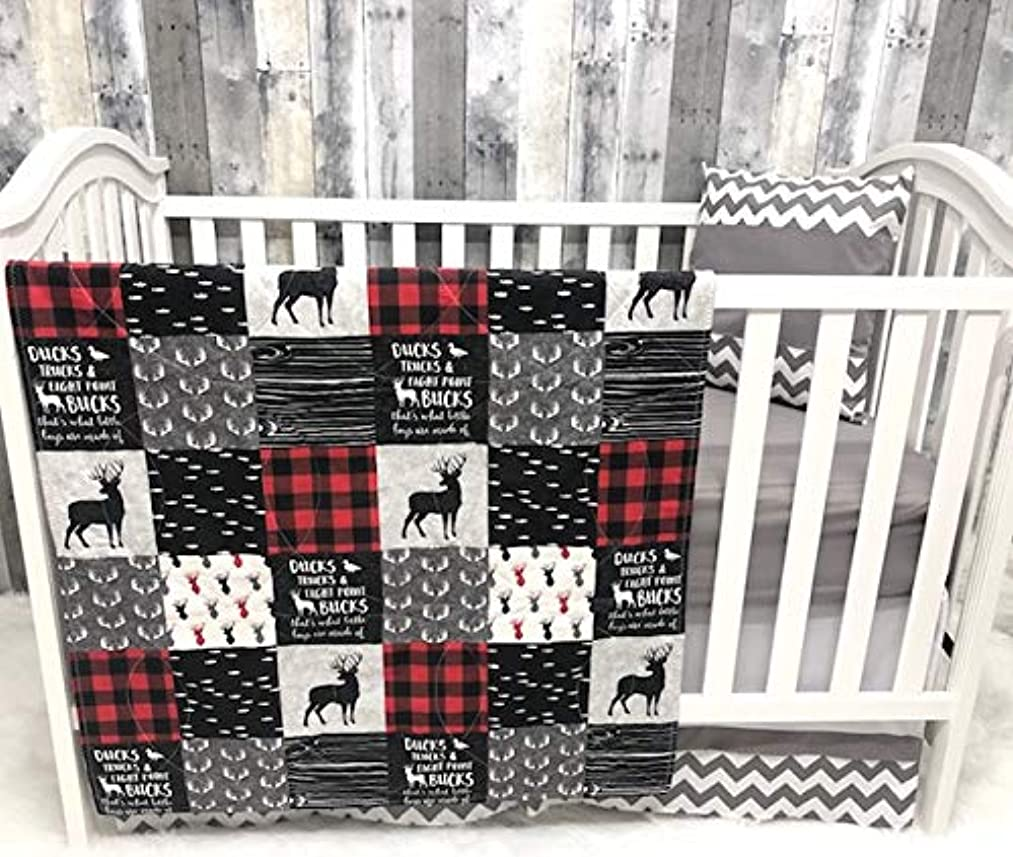 Baby Chevron, Baby Bedding, Hunting, Ducks, Woodlands, Buck, Buffalo Plaid, Neutral, Crib Bedding, Nursery Room, Babylooms