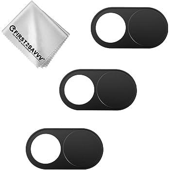 Guyuca Lot de 12 caches de webcam en m/étal pour MacBook Pro smartphones tablettes Ultra fin Lot de 12 ordinateurs portables iPad Noir