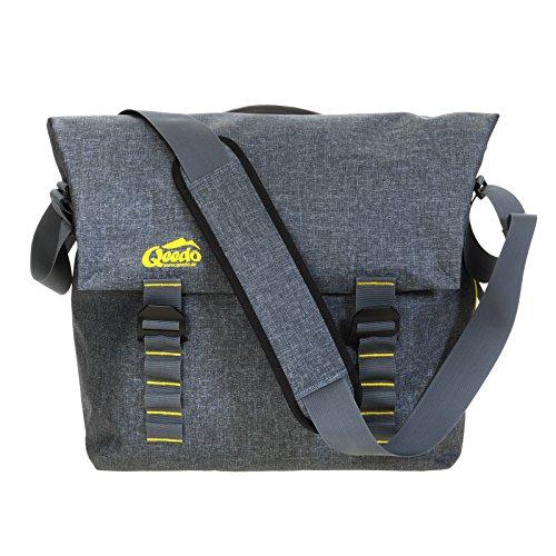 Qeedo Kuriertasche Dry Downtown Messenger Bag 38 Zentimeter 19 Liter Grau