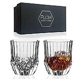 Juego de 2 vasos de cristal para whisky, cristalería The Gatsby para whisky escocés, gin & tonic, cócteles
