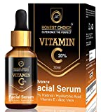 Honest Choice Vitamin C Serum with Hyaluronic acid, Aleo Vera, and Vitamin E/Anti