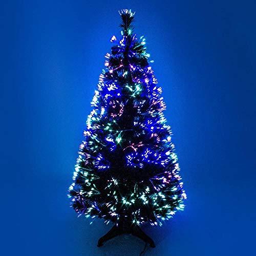 Powzz ornament Albero di Natale Artificiale in Fibra Ottica Verde da 3 Piedi al Coperto con LED Multicolore da 3 Piedi (90 cm)