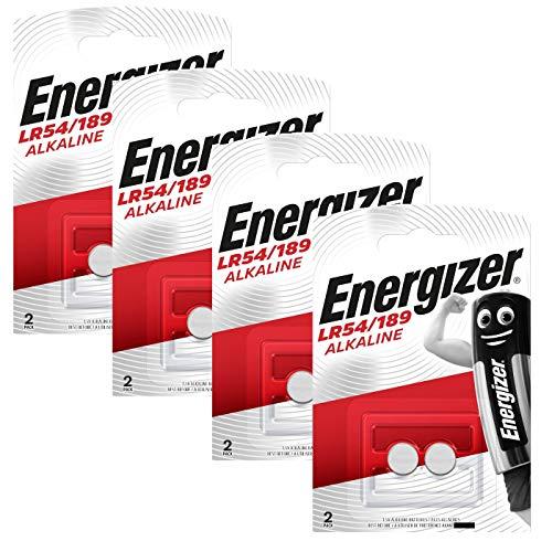 Energizer Original - Lot de 4 paquets de 2 piles bouton alcaline 189 AAA 1,5 V