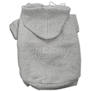 Mirage Pet Products 18-Inch Cheeky Hoodies, XX-Large, Grey