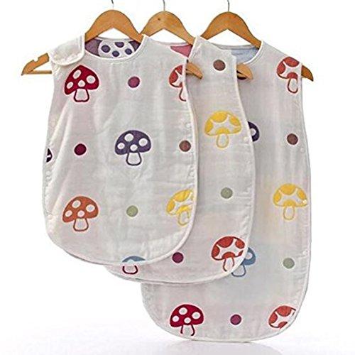 nuolux nouveau-né bébé Gigoteuse 100% coton couverture portable bébé enfant Swaddle Couverture d'emmaillotage 0–3 ans S