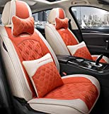 Car Seat cover set, cómodo piezas de automóvil, llenado de alforfón, transpirable y resistente al desgaste, conveniente para todas las estaciones,F