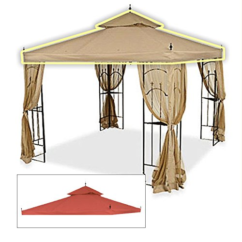 Garden Winds Replacement Canopy Top Cover for Hampton Bay Arrow Gazebo - Riplock 350 - Terra Cotta -  4316456070