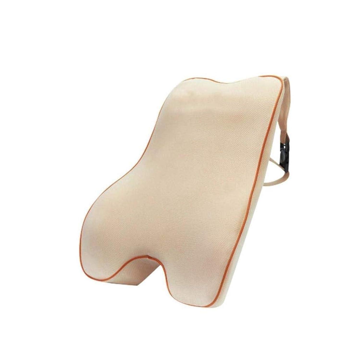 野球追い払う予防接種する腰椎枕 - 100%低反発腰椎クッション - ポータブル枕 - 整形外科用ウエストサポート枕 - 車のオフィスチェア - 長距離運転オフィスに適した腰痛緩和
