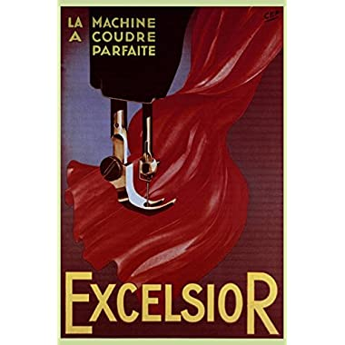 Excelsior Sewing Machine Advertisement Art Print 24 x 36in with Poster Hanger