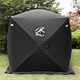 Popsport 2 Person Ice Fishing Shelter Tent 300d Oxford Fabric Portable Ice Shelter Strong Waterproof Ice Fish Shelter for Outdoor Fishing