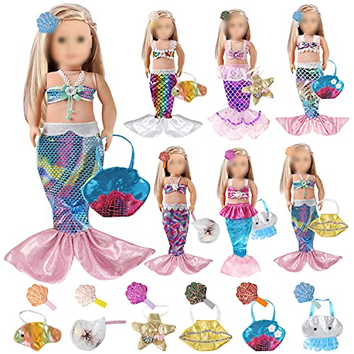 Voccim 18 Inch Doll Clothes Mermaid Outfits - American Doll Clothes...