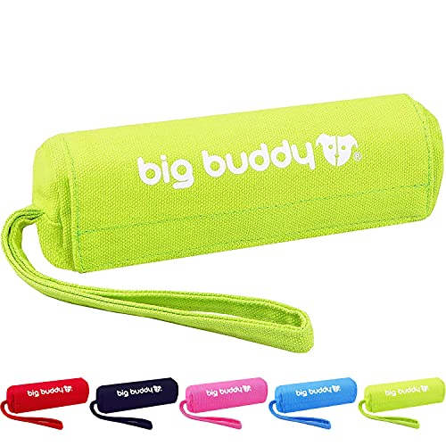 big buddy Canvas Futterdummy, Futterbeutel für Hunde, Apportierdummy zur Hundeerziehung (1x, Grün)
