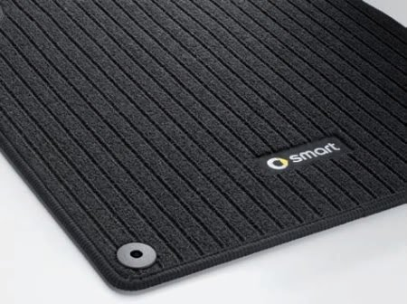 Genuine Smart Fortwo Ribbed Carpet Floor Mats Black Left + Right 45168022489G32