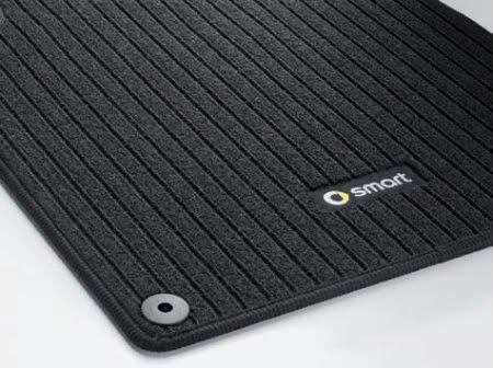 Genuine Smart Fortwo Ribbed Carpet Floor Mats Black Left + Right 45168022489G32