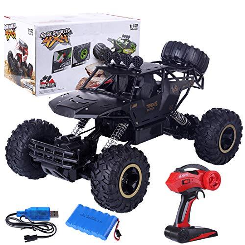 DAN DISCOUNTS Coche teledirigido 4WD RC Auto 37 cm control remoto eléctrico todoterreno 2,4 GHz RC Buggy Cochecito de carreras rápido para niños y adultos