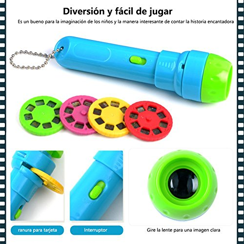 Cozyer Linternas Proyector de 4 Cuentos Infantiles para Niños ...