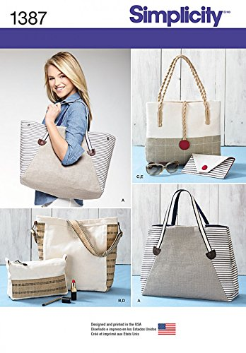 Simplicity Accessories Schnittmuster 1387 Strandtaschen und Taschen