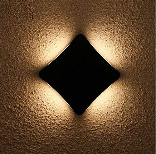 Led-buitenlamp, waterdicht, wandlamp voor tuin, allee, buiten, balkon, gang, verlichting van aluminium