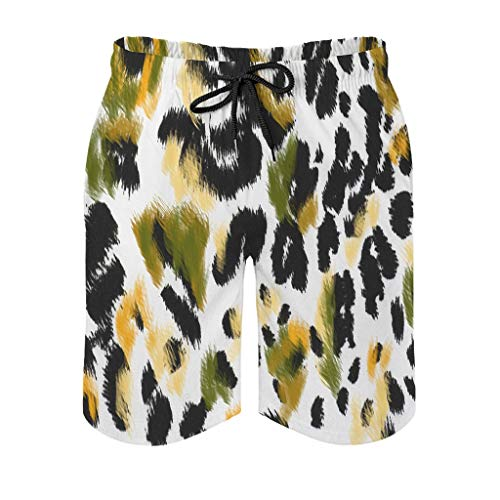 Hombre Animal Leopard Print Skin Swim Short Sport - Pantalones cortos