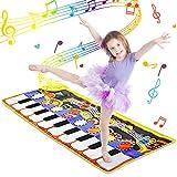 WOSTOO Alfombra para Piano, Alfombra de Teclado Táctil Musical Touch Juego Musical Portátil Electrón...