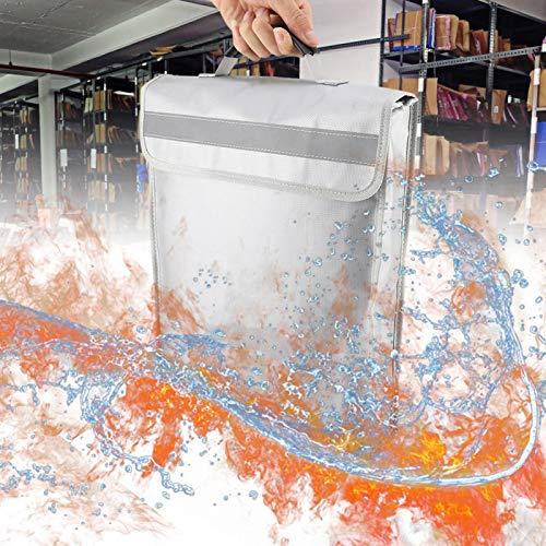 Emoshayoga Bolsa de Objetos de Valor ignífuga Resistencia a Altas temperaturas Tela de Fibra de Vidrio de Silicona líquida Conveniente y práctica para libretas de ahorros