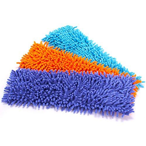 MSV 100402 Rechange pour moppe pour Chenille, Linge de Maison, Orange/Vert/Pourpre/Bleu, 30 x 20 x 15 cm