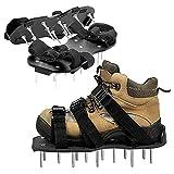 MHGLOVES Sandalias aireadoras de césped, zapatos de aireador de césped, sandalias con clavos resistentes, escarificadores de césped con 3 correas ajustables para airear tu césped o patio (1 par)