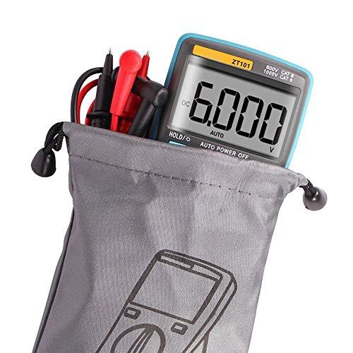 BXU-BG Multímetro digital de luz de fondo de AC/DC amperímetro 6000 cuentas de AC/DC del amperímetro del voltímetro Ohm y aparato de medición portátil del metro del voltaje