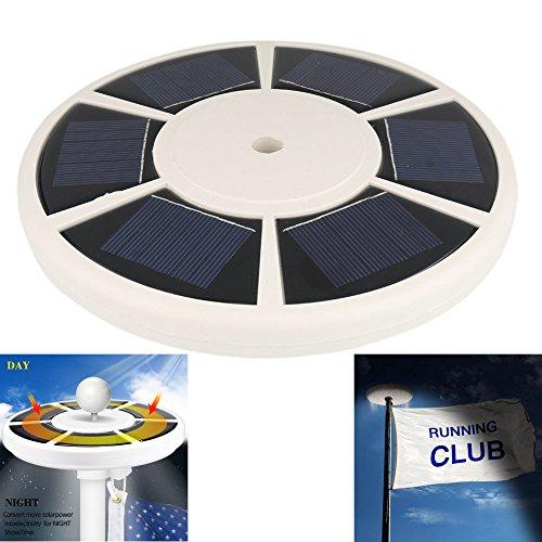 Mástil para bandera de Solar Luz mástil por aiqi–más brillante, más potente, más y más bandera cobertura–Mástil para bandera de LED–Foco para la mayoría de 15a 25pies para iluminación de noche