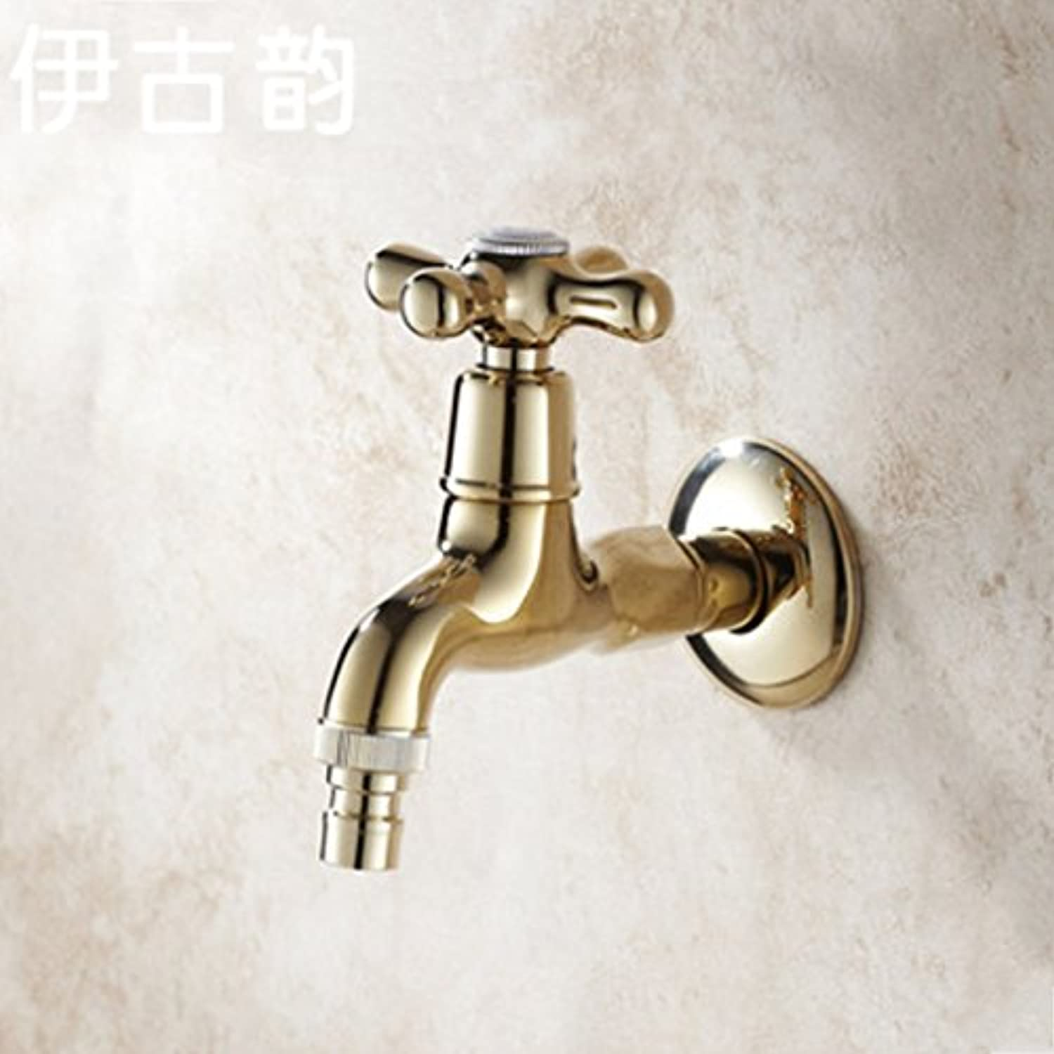 Hlluya Professional Sink Mixer Tap Kitchen Faucet The gold-copper washer mops pool taps, single-a water faucet