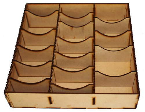 PLAIN MDF STORAGE BOX FOR LORD OF THE RINGS YU-GI-OH POKEMON TRADING CARDS Card Game, Insert , Organiser, Wood, Compartment , Dividers LCG , TCG