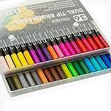 YHWW Pluma acuarela,Pincel de acuarela para estuche escolar Marcador Color Tinta a base de agua marcadores copic manga art set suministros, 36 colores