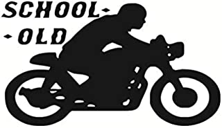 xcdfr Wall Stickers Wall Paper Detachable Kids Room Motorcycle Wall Art Old School Motorcycle Wall Decoration 59 33Cm